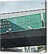 La Freeway Acrylic Print