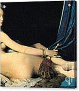 La Grande Odalisque Acrylic Print by Pg Reproductions