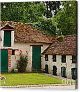 La Pillebourdiere Old Farm Outbuildings In The Loire Valley Acrylic Print by Louise Heusinkveld