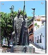 La Rogativa Sculpture Old San Juan Puerto Rico Acrylic Print by Shawn O'Brien