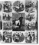 Labor: Women, 1868 Acrylic Print