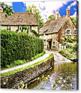 Lacock Village Acrylic Print