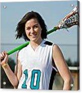 Lacrosse Girl Acrylic Print