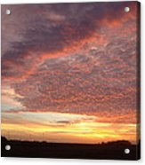 Lacy Pink Sunset Acrylic Print