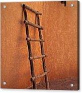 Ladder Against Adobe Wall Acrylic Print