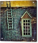 Ladder On Roof Acrylic Print