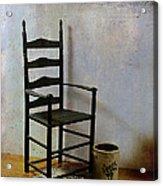 Ladderback Acrylic Print by Judi Bagwell