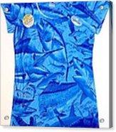Ladies Gamefish Collage Shirt Acrylic Print