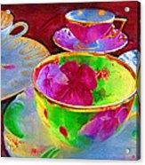 Ladies Tea Time Acrylic Print