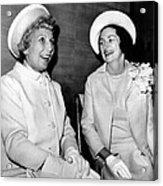 Lady Bird Johnson And Muriel Humphrey Acrylic Print by Everett