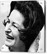 Lady Bird Johnson Smiles As The Wind Acrylic Print by Everett