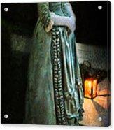 Lady By Lantern Light Acrylic Print