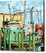Lady Grace Trawler Acrylic Print by Peter Sit