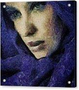Lady In Blue Acrylic Print by Gun Legler