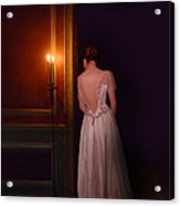 Lady In Candle Light Acrylic Print