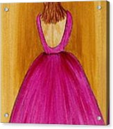 Lady In Pink 4536 Acrylic Print by Jessie Meier