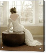 Lady In Sequin Gown Acrylic Print