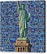 Lady Liberty Mosaic Acrylic Print
