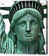 Lady Liberty Up Close Acrylic Print