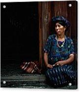 Lady Of Antigua Acrylic Print