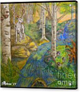 Lady Of The White Birch Acrylic Print