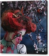 Lady Spring Silence Acrylic Print