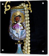 Lady Vase And Pearls Acrylic Print