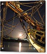 Lady Washington - Moonlight On Coos Bay Acrylic Print
