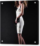 Lady With Curly Hair Acrylic Print