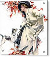 Lady With Dog Acrylic Print