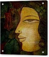 Lady's Face Acrylic Print