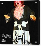 Laffing Sal - Playland At The Beach - San Francisco - 7d14361 - Black With Text Acrylic Print