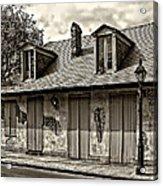 Lafittes Blacksmith Shop Bar In Sepia Acrylic Print