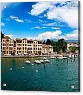 Lago Di Garda In Italy In Early Spring  Acrylic Print