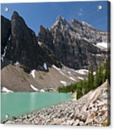Lake Agnes And Mt Whyte Acrylic Print