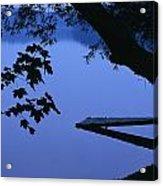 Lake And Trees At Dusk Acrylic Print