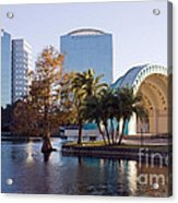 Lake Eola's  Classical Revival Amphitheater Acrylic Print by Lynn Palmer