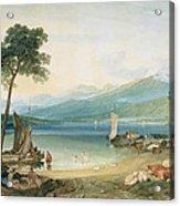 Lake Geneva And Mont Blanc Acrylic Print by Joseph Mallord William Turner