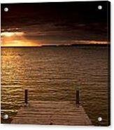 Lake Huron Dock Acrylic Print