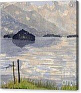 Lake Kilarney Ring Of Kerry Watercolour Painting Acrylic Print