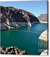 Lake Mead By Hoover Dam Acrylic Print