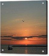 Lake Michigan Sun Rise Acrylic Print