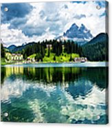 Lake Misurina - Dolomites, Italy Acrylic Print