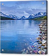 Lake Sherburne Shoreline Acrylic Print