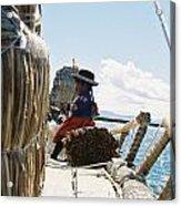 Lake Titicaca Reed Boat Acrylic Print