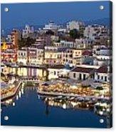 Lake Vouismeni Agios Nikolaos, Crete Acrylic Print