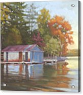 Lake Wylie Boathouse Acrylic Print