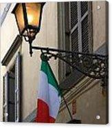 Lamp And Flag Acrylic Print