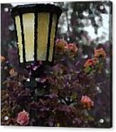Lamp And Roses Acrylic Print
