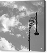 Lampost And Clouds In Wroclaw Poland Acrylic Print